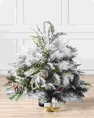 Outdoor Frosted Evergreen by Balsam Hill
