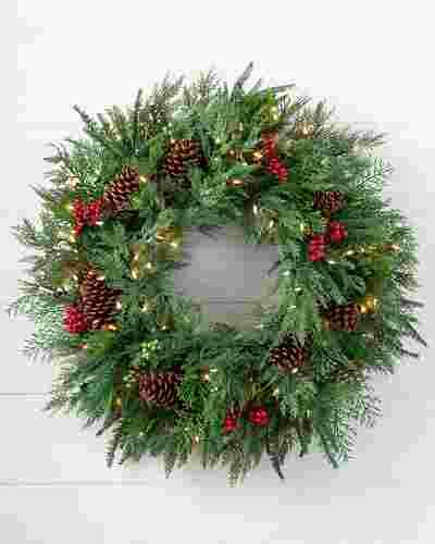 Winter Evergreen Wreath by Balsam Hill