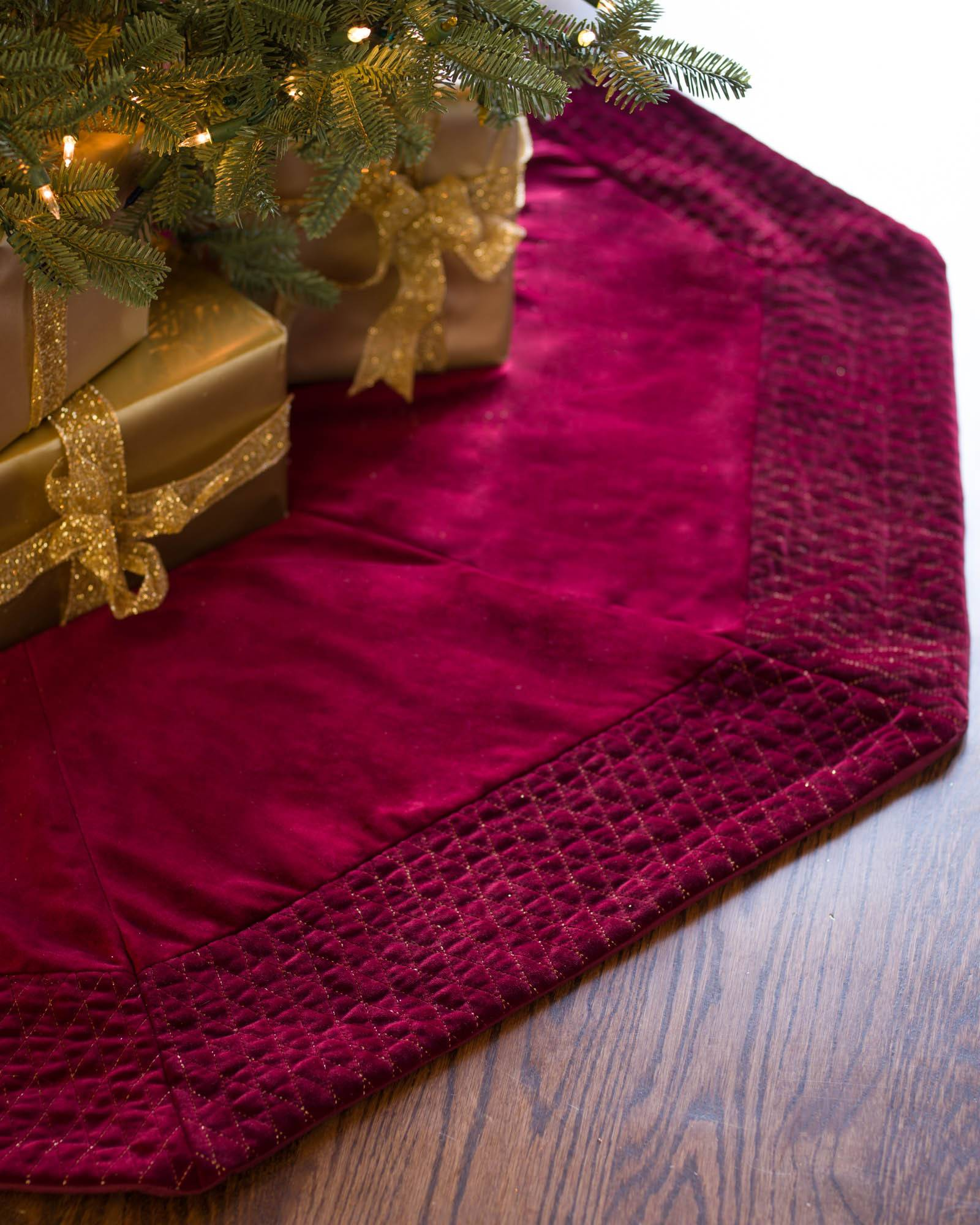 Florentine Quilted Velvet Tree Skirt Balsam Hill