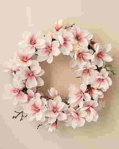 Japanese Magnolia Wreath by Balsam Hill SSC