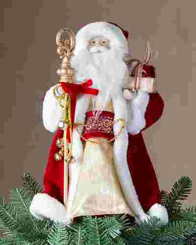 Classic Santa Tree Topper by Balsam Hill