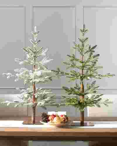 Alpine balsam fir tabletop tree balsam hill for Alpine decoration
