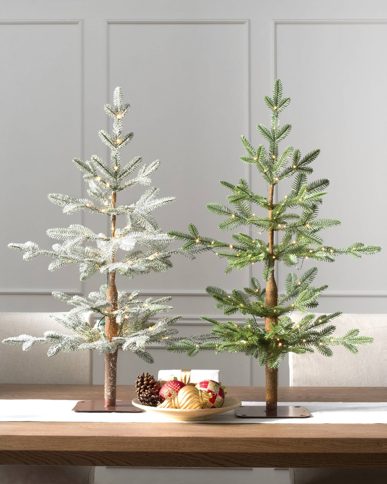 Flocked Slim Christmas Tree
