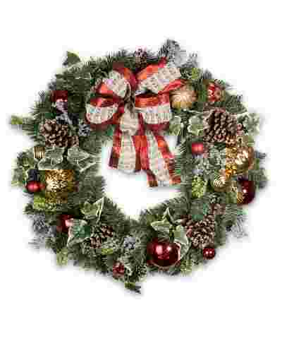 Christmas Carols Wreath by Balsam Hill