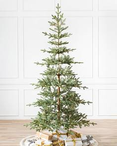 alpine balsam fir artificial christmas tree by balsam hill - Pencil Christmas Tree Decorating Ideas