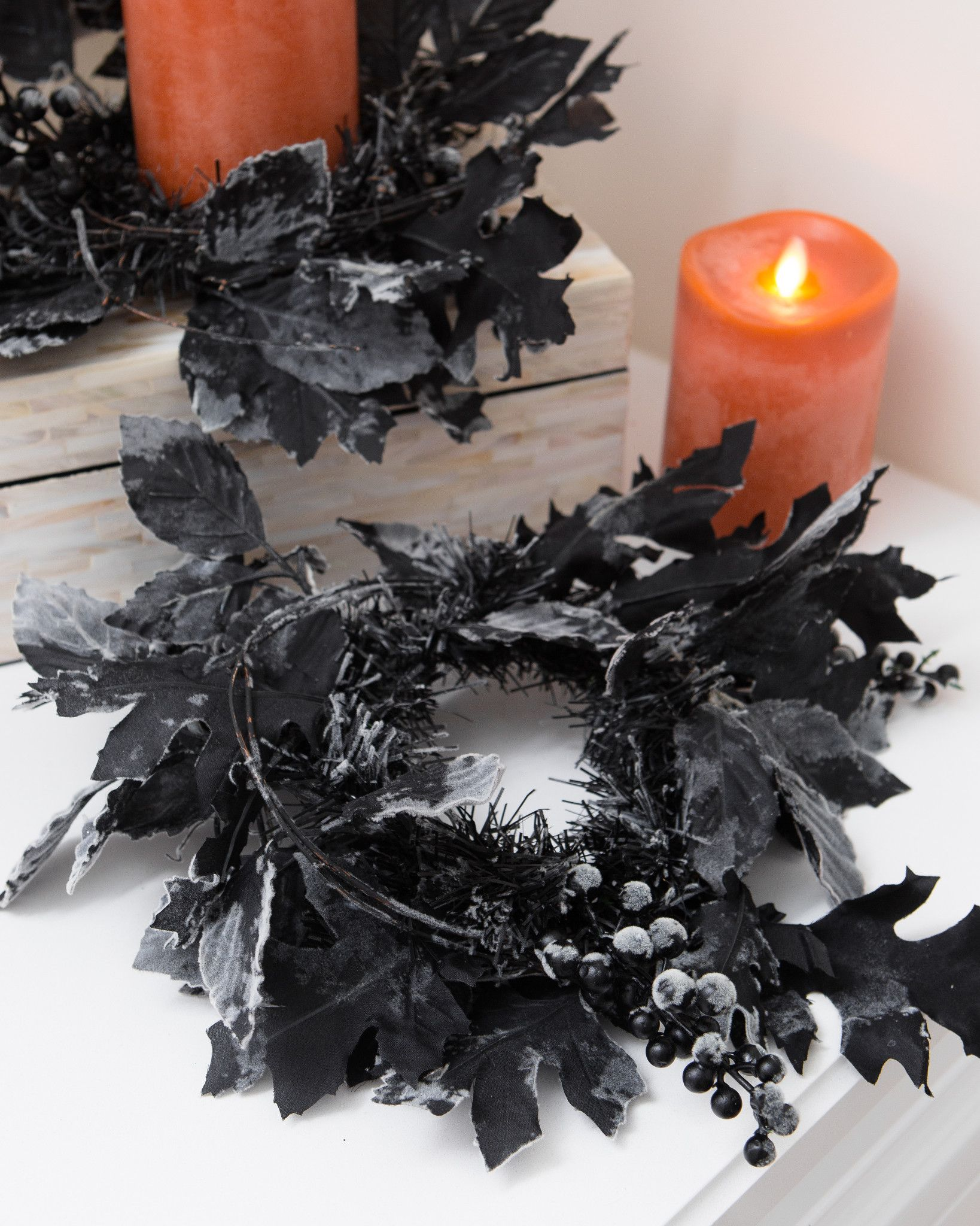 halloween night candle rings, set of 2 | balsam hill