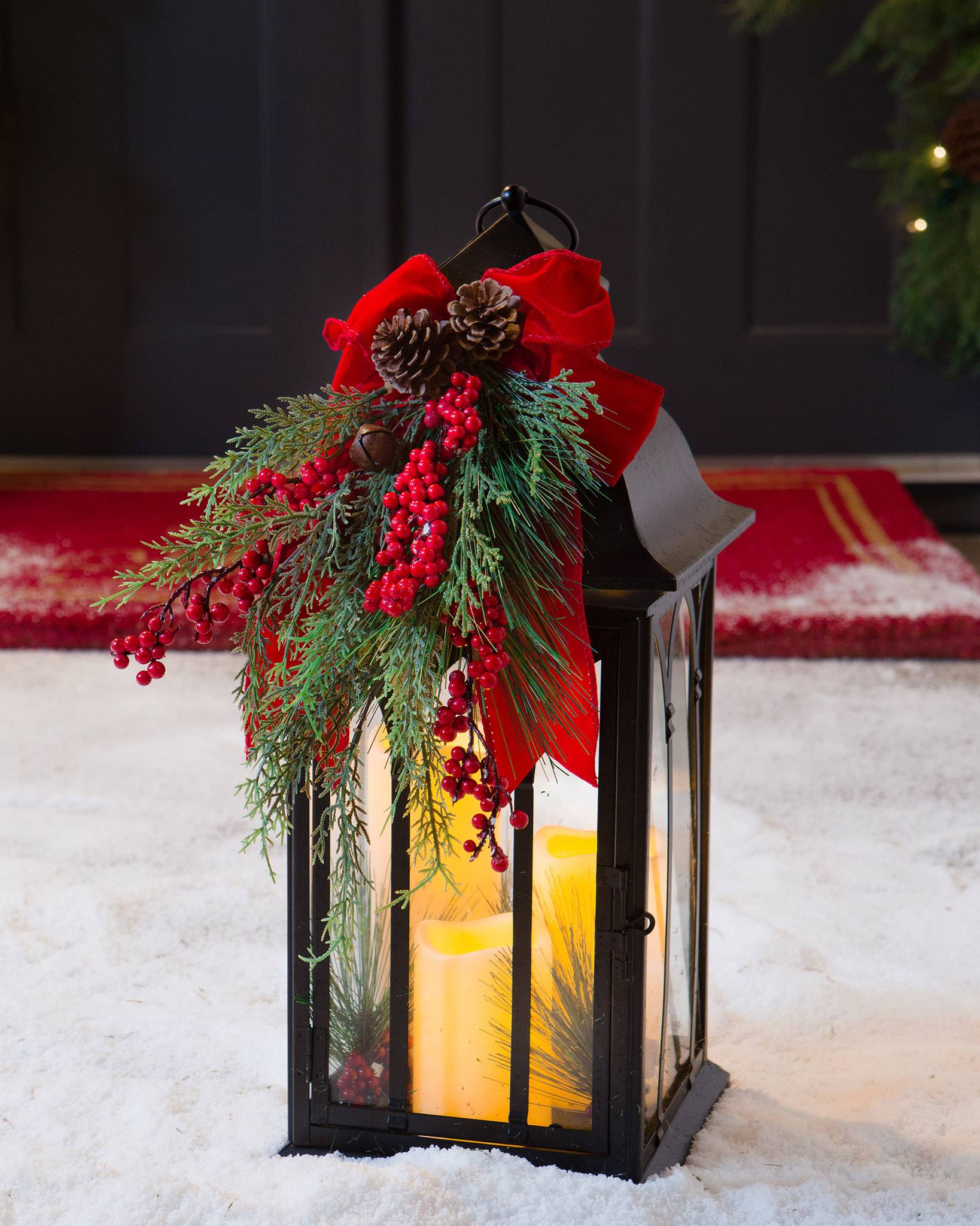Holiday Beacon Lantern with LED Candles | Balsam Hill