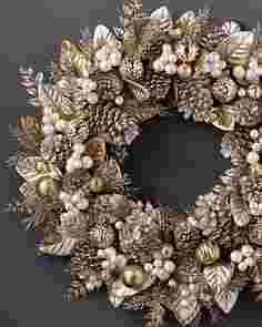 Gilded Glamour Wreath by Balsam Hill SSCR