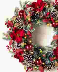 Mountain Chalet Wreath by Balsam Hill SSCR 10