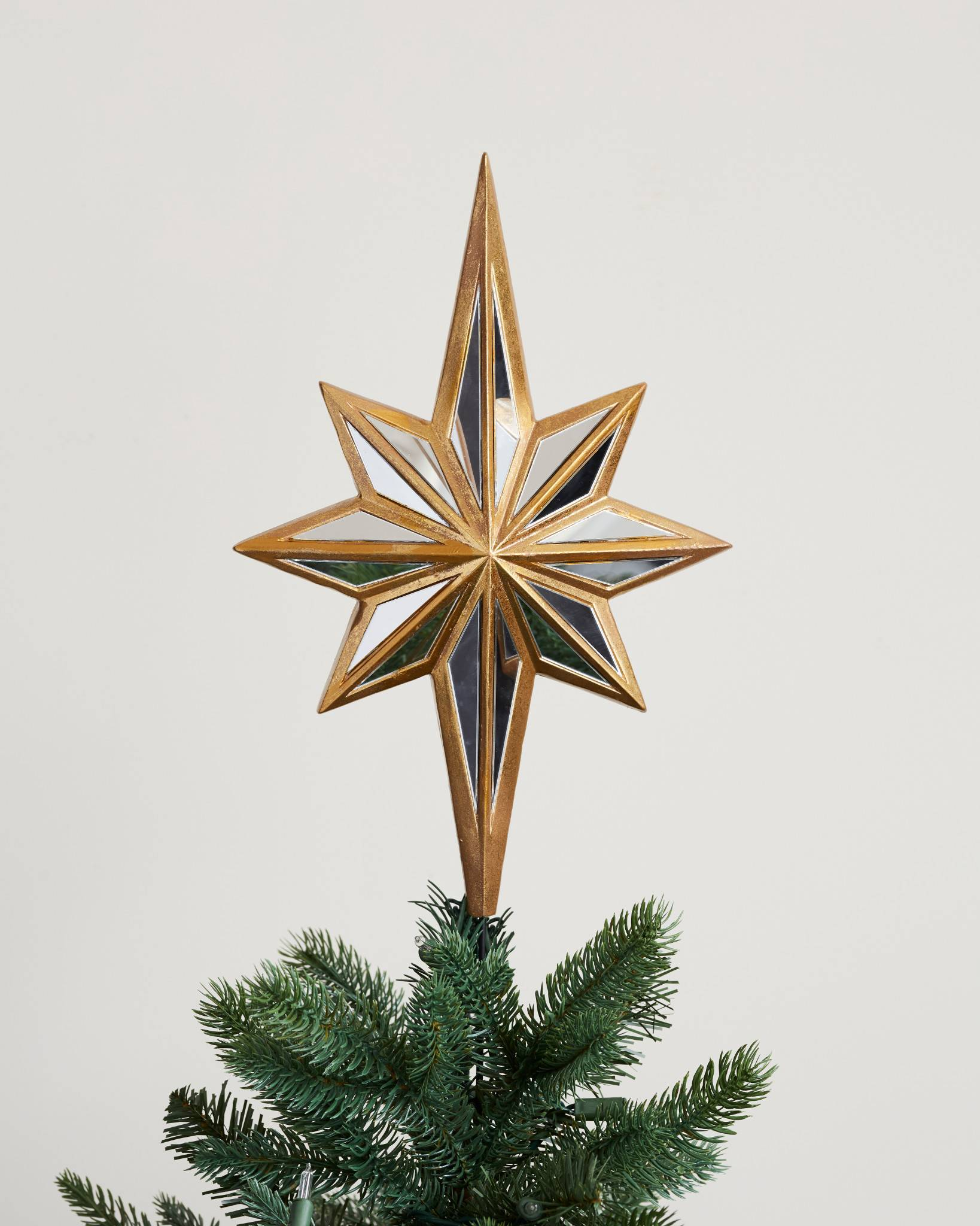 Mirrored Star Tree Topper | Balsam Hill UK