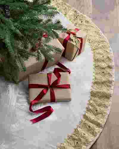 Biltmore Gilded Tree Skirt by Balsam Hill SSC 10