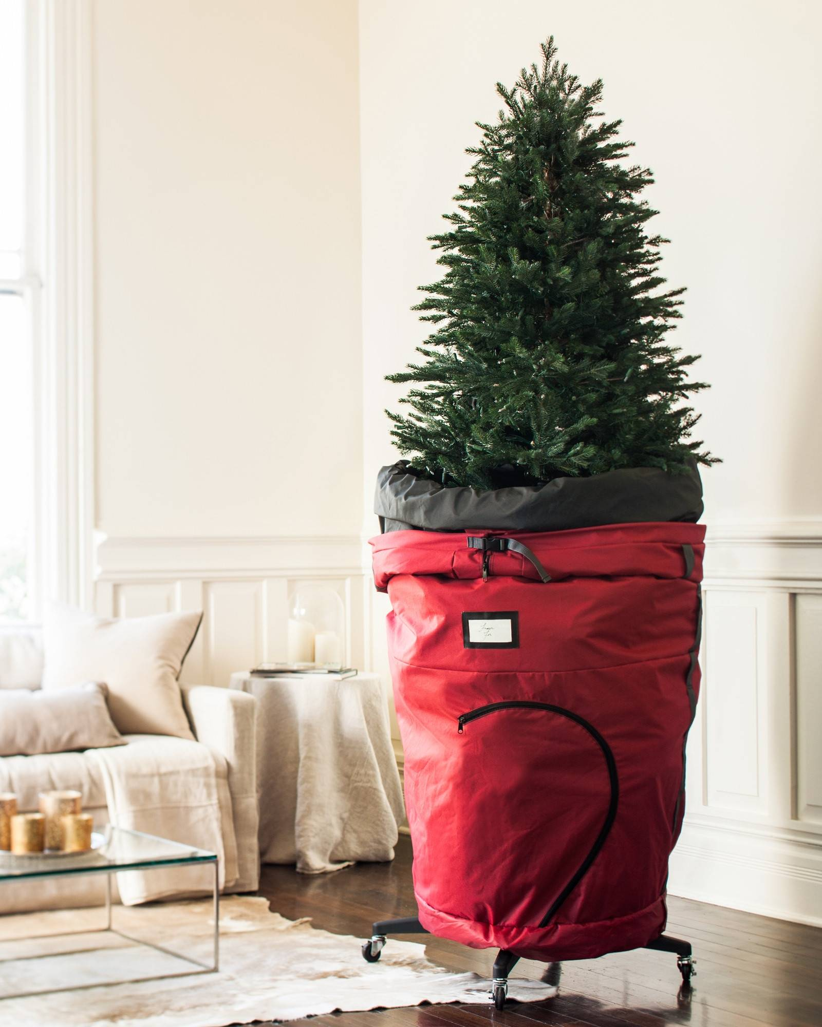 Slim Rolling Christmas Tree Storage Bag By Balsam Hill Close
