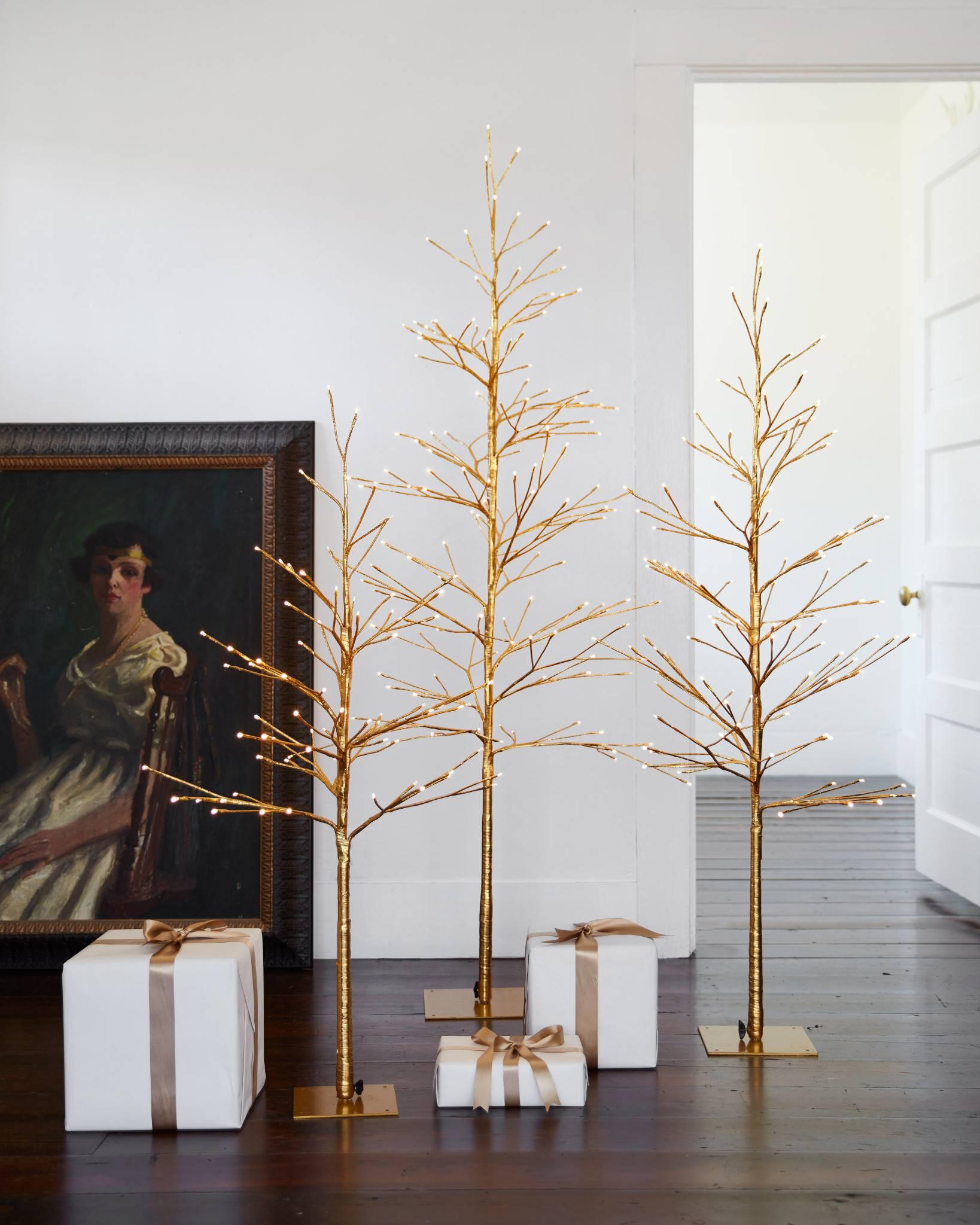 Golden Glow LED Tree   Balsam Hill
