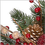 Vermont White Spruce Bordeaux Wreath by Balsam Hill Foliage