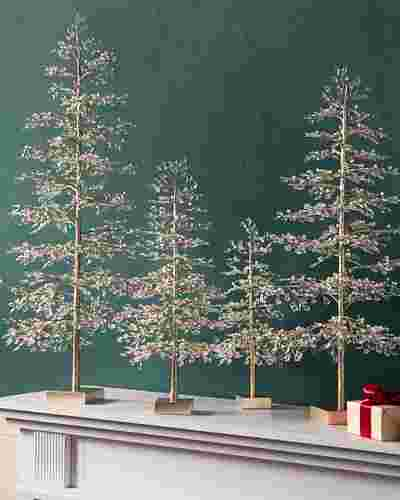 Crystal and Pearl Champagne Tree by Balsam Hill