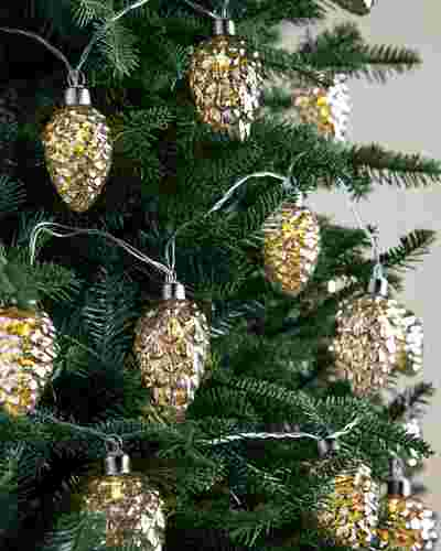 Glowing Pinecone Garland Set of 2 by Balsam Hill SSC