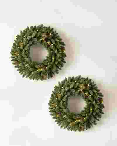 Classic Blue Spruce Wreath, Set of 2 by Balsam Hill