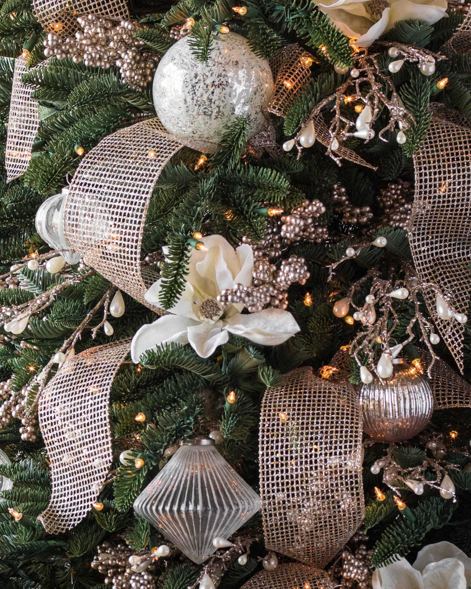winter pearl glitter picks set of 12 alt - Christmas Tree Picks