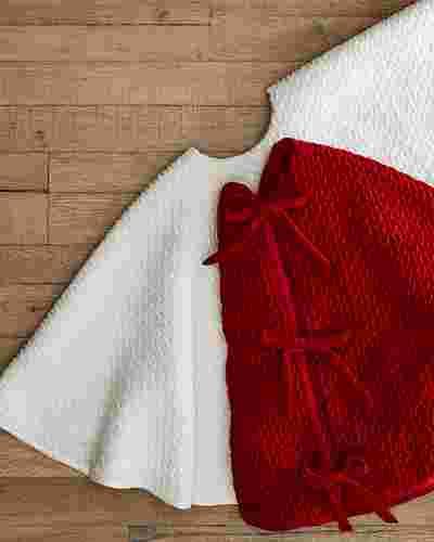Plush Braid Tree Skirt by Balsam Hill