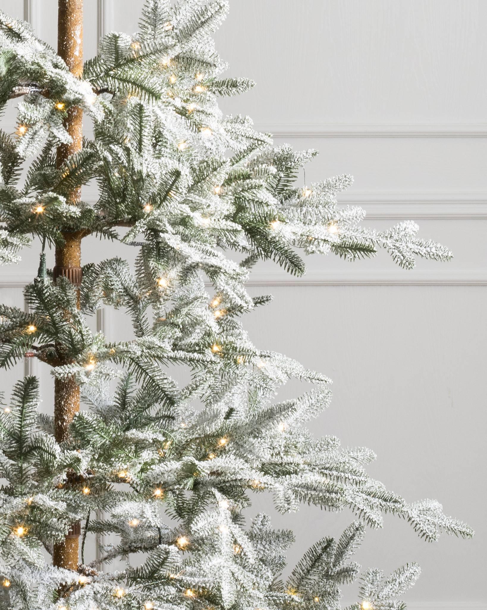 Heavily Flocked Christmas Trees
