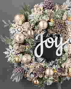 Winter Joy Flocked Wreath by Balsam Hill