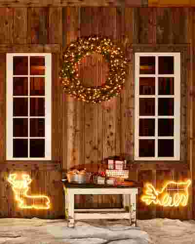 Outdoor LED Holiday Silhouettes by Balsam Hill