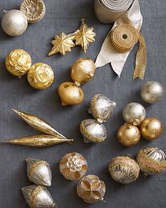 silver and gold glass ornament set alt