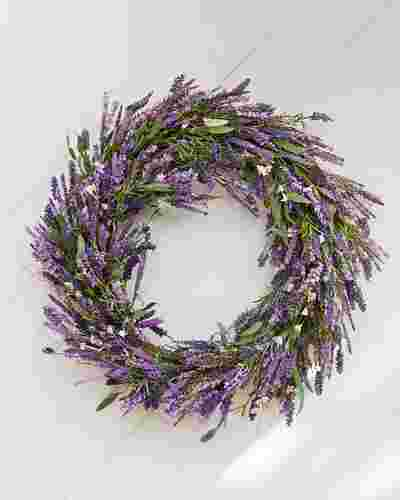 Provencal Lavender Wreath by Balsam Hill