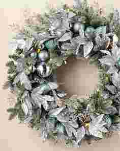 Silver Frost Wreath by Balsam Hill