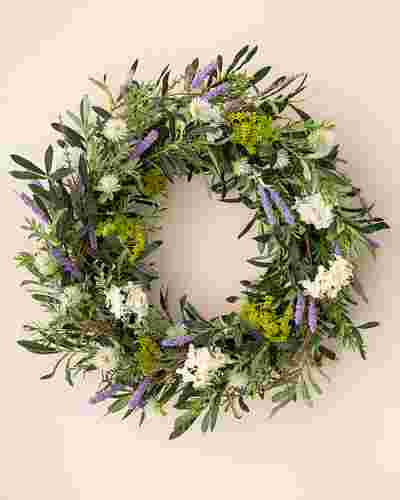 French Market Floral Wreath by Balsam Hill