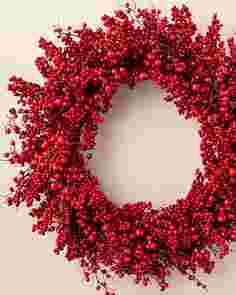 Festive Red Berry Wreath by Balsam Hill