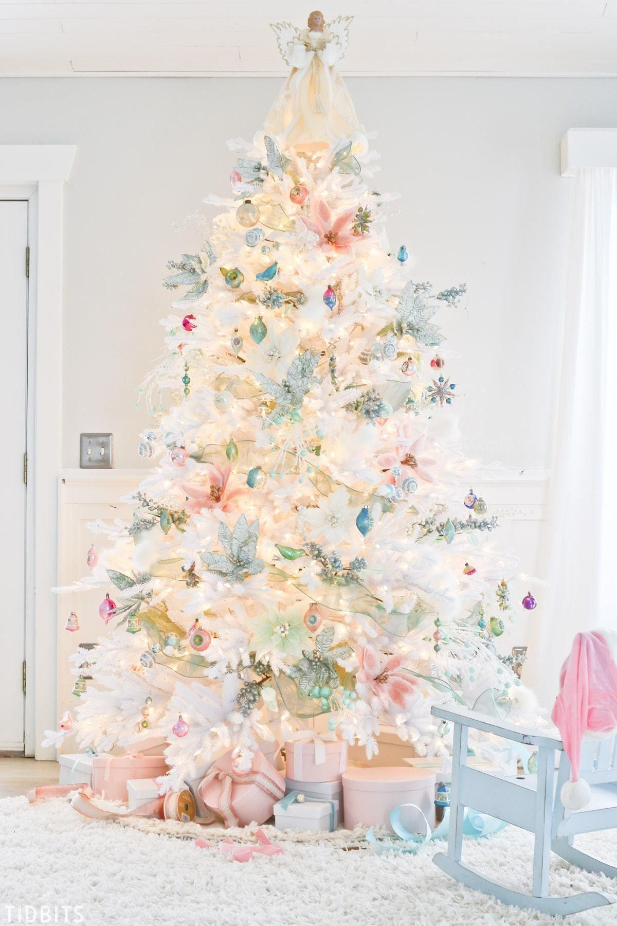 Decorated Mini Christmas Trees
