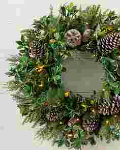 Outdoor Woodland Evergreen Wreath by Balsam Hill