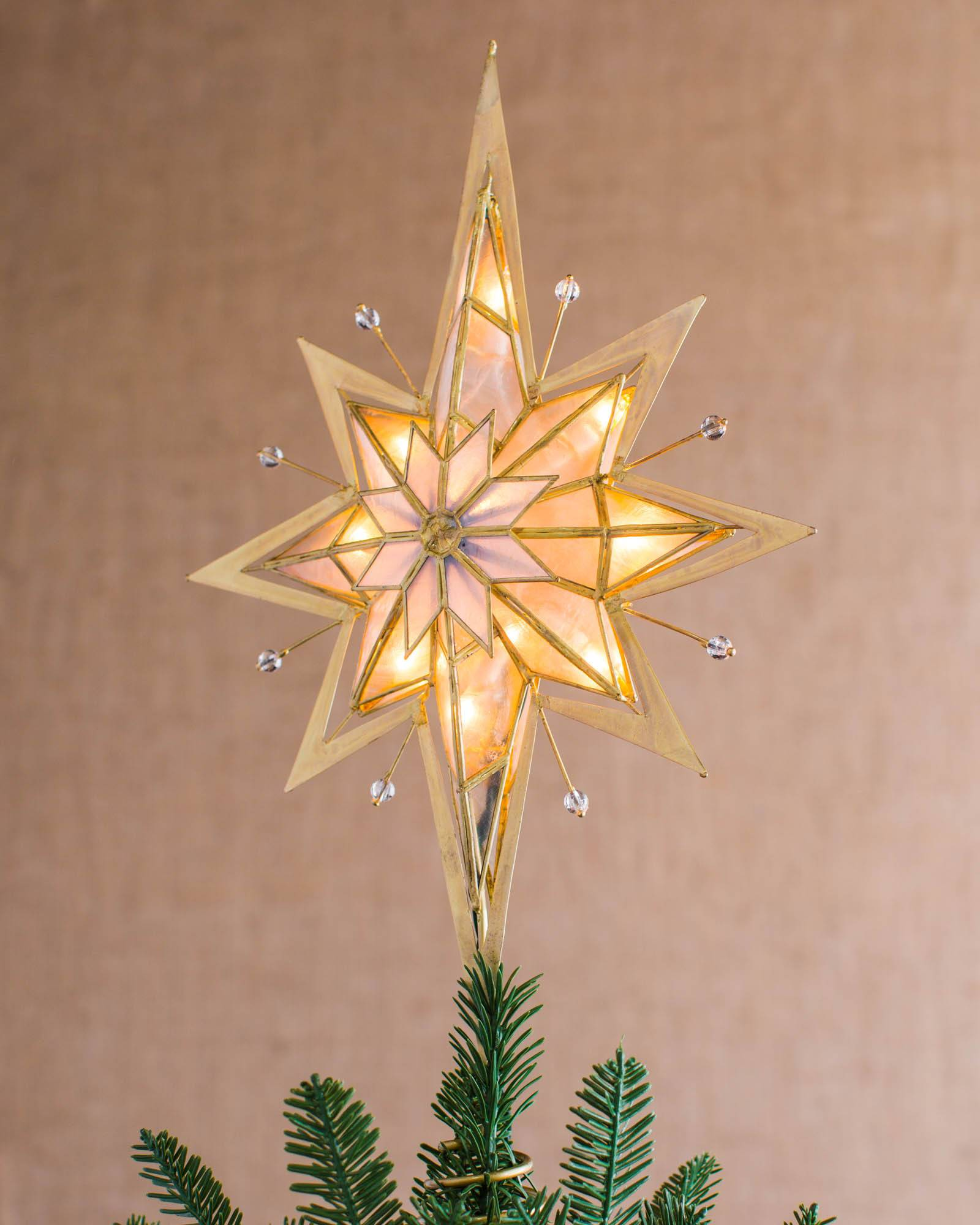pre lit bethlehem star tree topper main