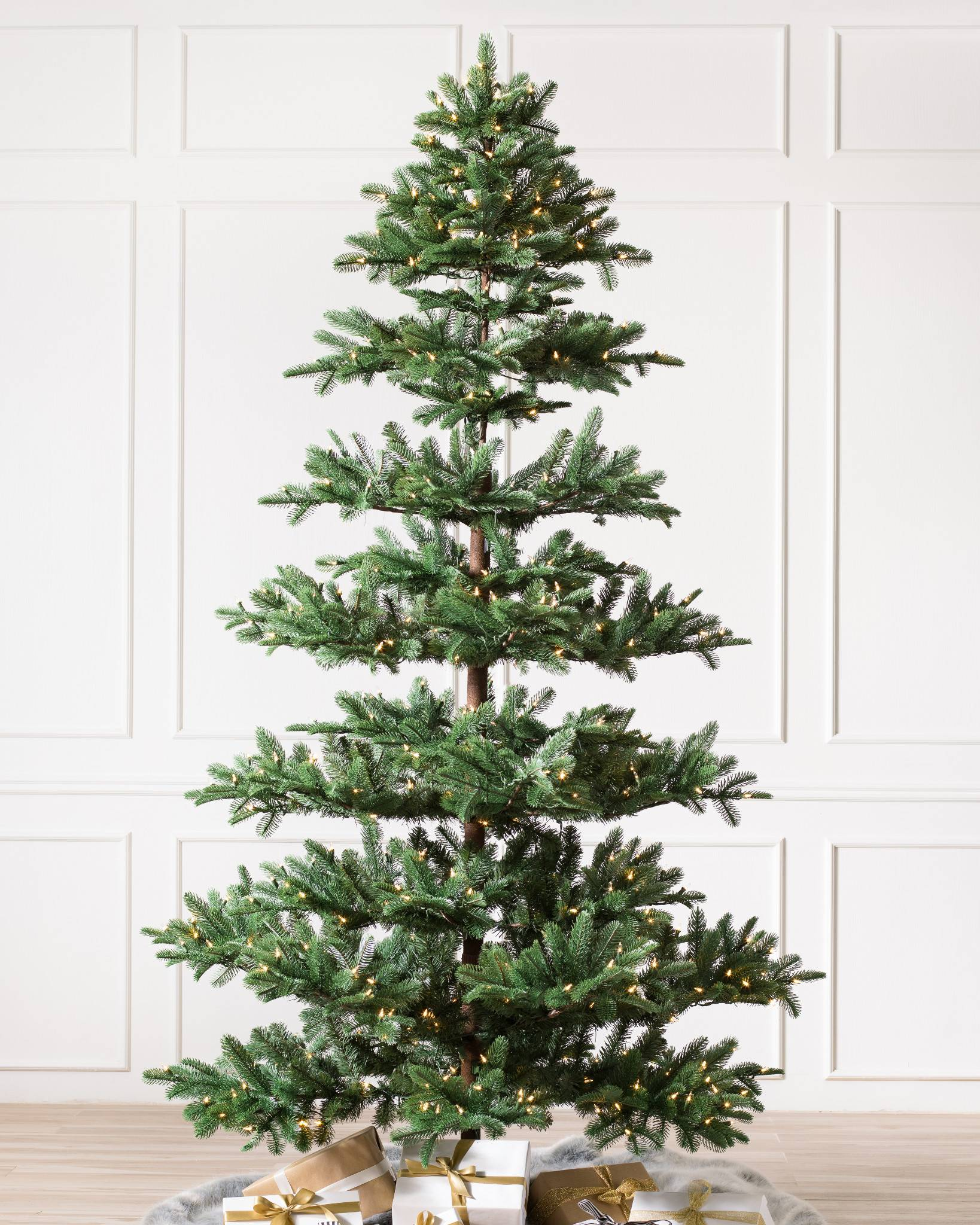 Mountain Fir Artificial Christmas Tree By Balsam Hill Candlelight Led Lights