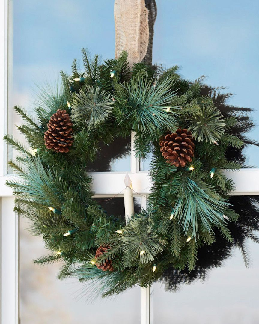 Adorn your home with our beautiful Vermont White Spruce Wreath and Garland for the holiday season. Visit Balsam Hill today.