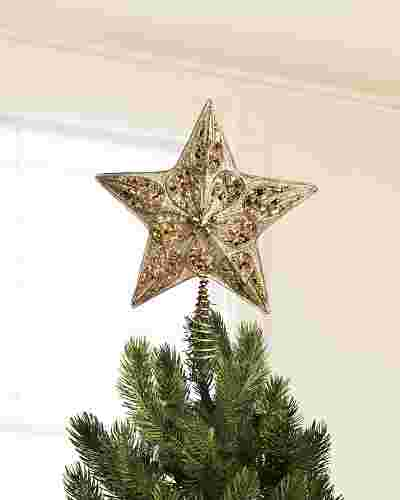 Silver and Gold Star Tree Topper Main