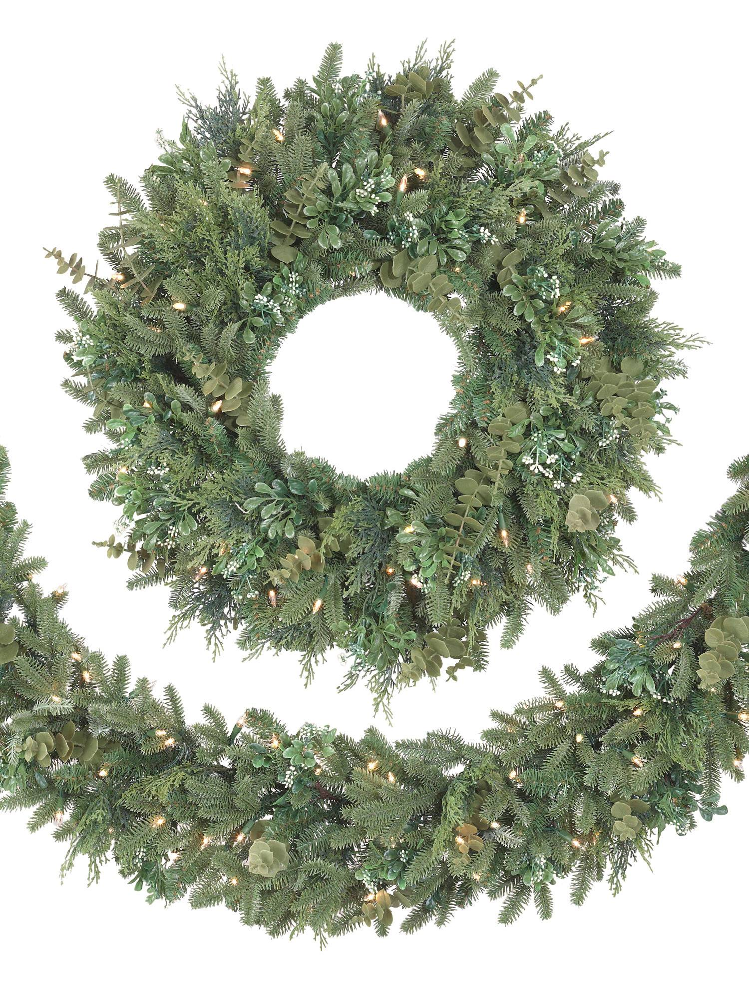 Fraser Fir Decorated Wreath From Balsam Hill Decorating Ideas To Hide A Fuse Box Bh Meadow Main
