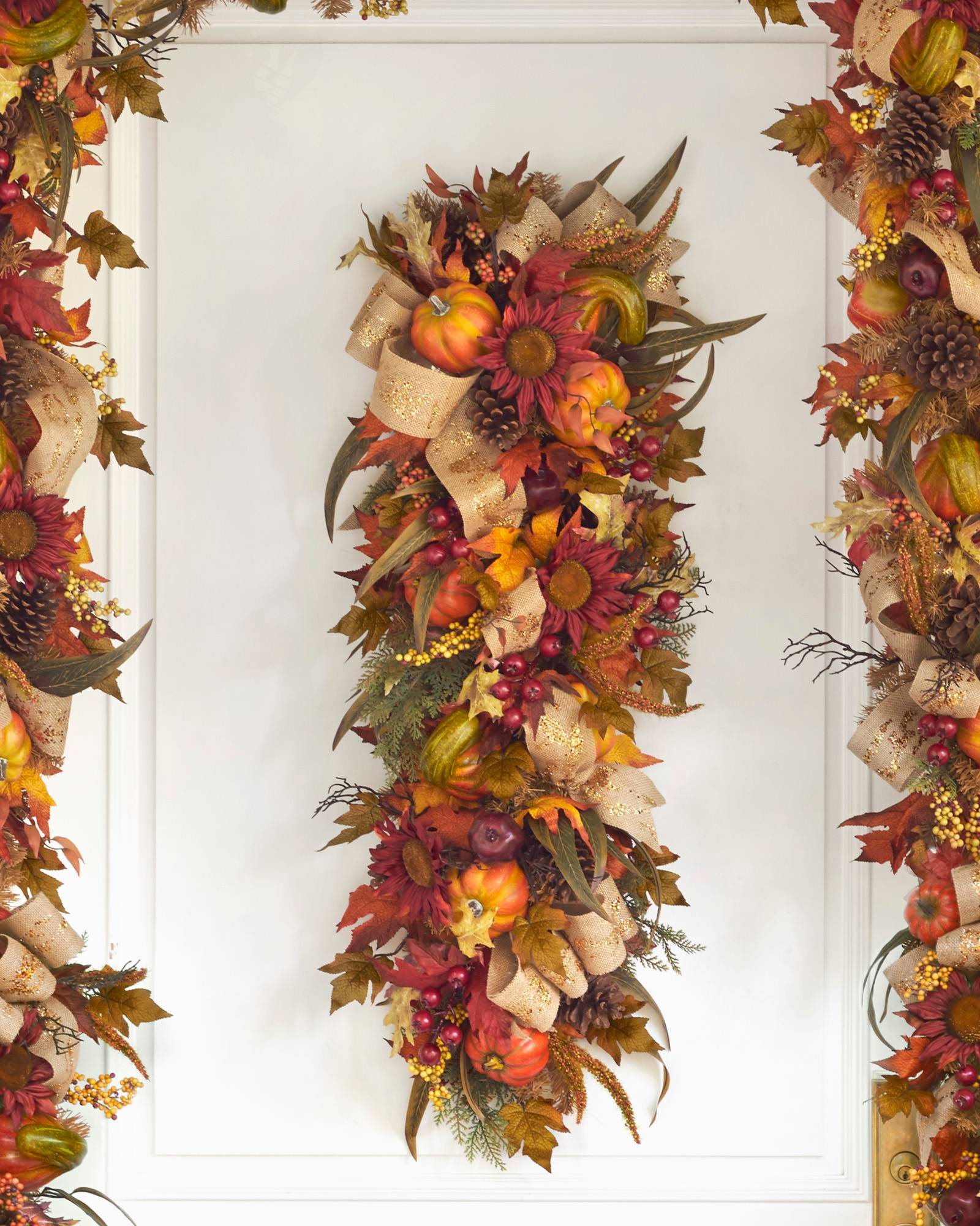 Fall Door Garland: Autumn Harvest Wreath, Garland And Swag