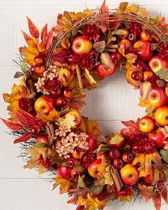 fall autumn wreaths garland foliage balsam hill