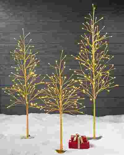 Indoor Outdoor LED Golden Glow Tree by Balsam Hill