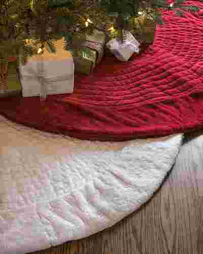 Berkshire Quilted Tree Skirt by Balsam Hill