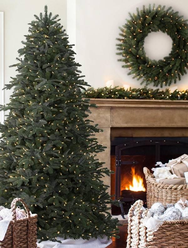 ... Tree by Balsam Hill BH Nordmann Fir -8 - Nordmann Fir Narrow Artificial Christmas Tree Balsam Hill