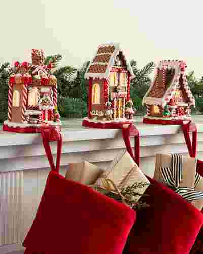 Gingerbread Village Stocking Holder by Balsam Hill