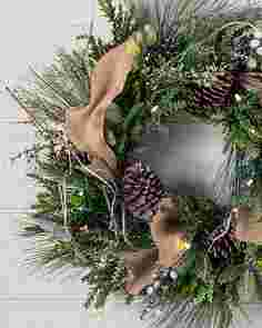 Outdoor Homestead Pine Wreath by Balsam Hill SSCR 10
