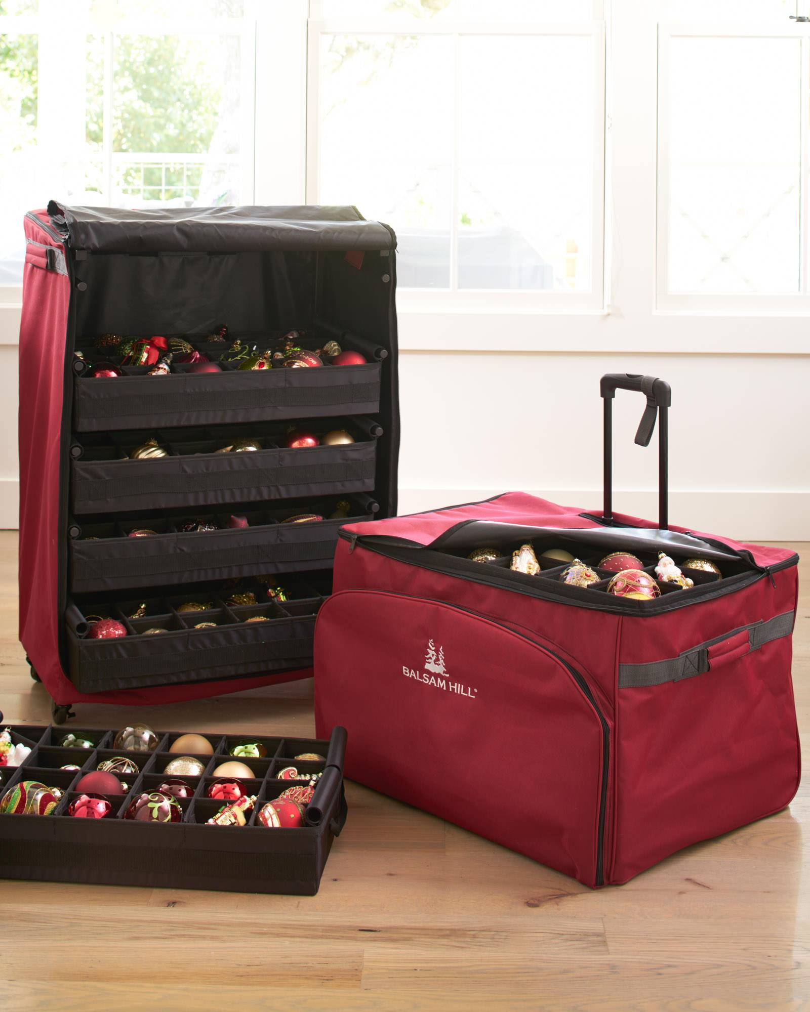 120-Piece Deluxe Rolling Ornament Chest Main