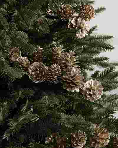Champagne Pinecone Picks Set of 12 by Balsam Hill