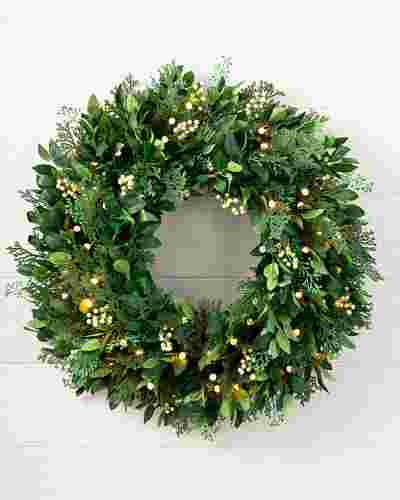 White Berry Cypress Wreath by Balsam Hill SSC