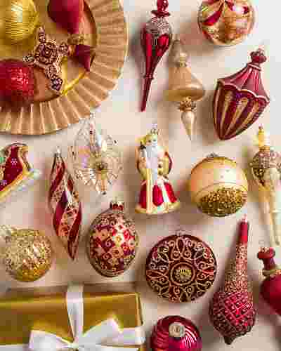 Noel Glass Ornament Set, 35 Pieces by Balsam Hill