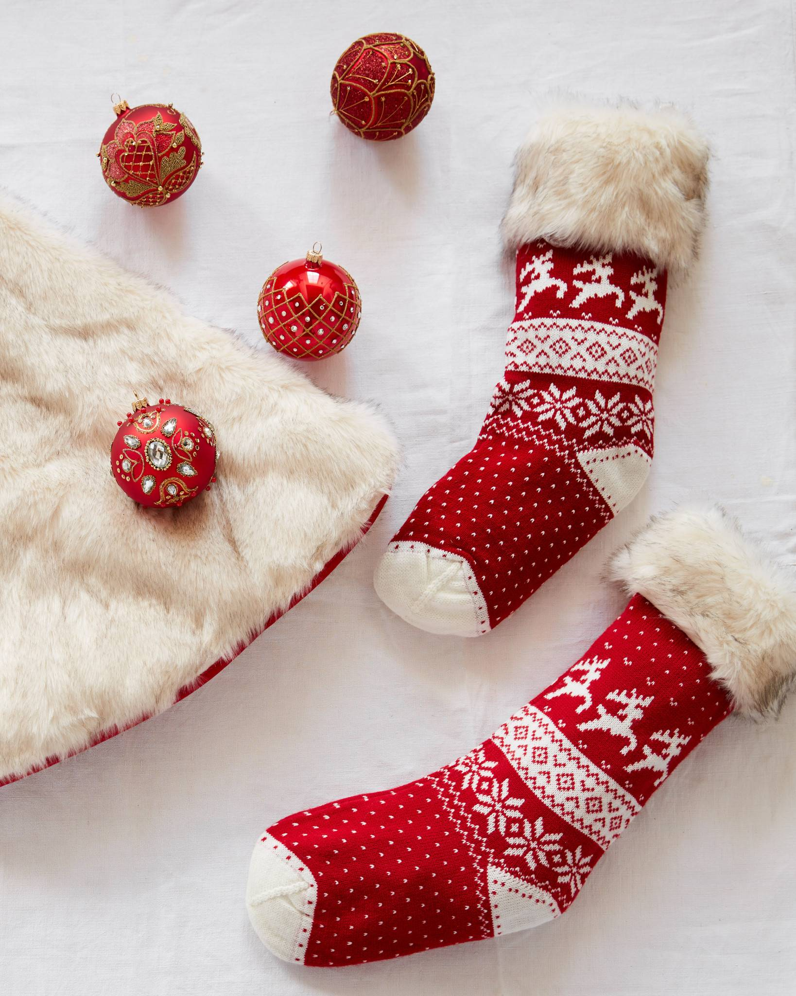Nordic Knit Christmas Stocking | Balsam Hill